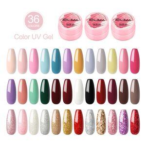 SHELLOLOH 36 Farben UV farbgel UV Gel Set gelfarben für nägel Nail Art Farbgel Set gel nägel farben Nagellack Nail Polish für Nail Art Nagel-Design