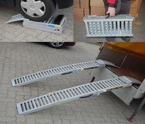 2x Auffahrrampe Auffahrbock 1600Kg Stahl 500 kg klappbare Rampe Auffahrschiene