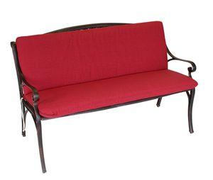 DEGAMO Bankauflage Polsterauflage Auflage TACOMA für Bank 3-sitzer 138cm mit Rückenteil, rot