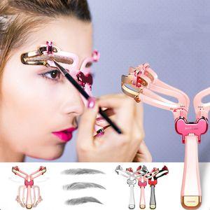 Augenbrauen Schablonen Formen Make-up Augenbrauenform Vorlage Einstellbare Rosa