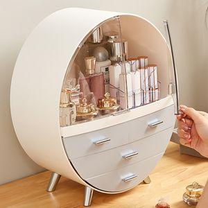 Kosmetikbox Kosmetik organizer Make Up Aufbewahrung Sortierkasten Mini Schrank -Grey L size