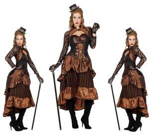 Retro Steampunk Kostüm Dame Gr. 36-48  Victoria Kleid Damenkostüm Gr. 44