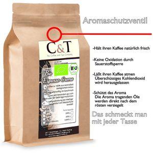Espresso Crema | Cafe 1000 g gemahlen im Kraftpapierbeutel