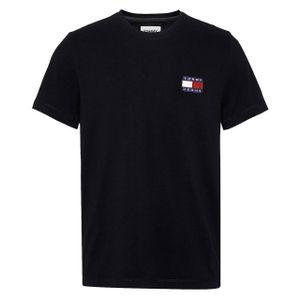Tommy Hilfiger Herren T-Shirt Badge Schwarz L