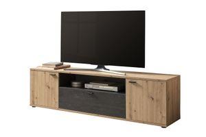 TV Board Atlanta - Artisan Eiche/Burned wood - 180 x 40 x 50 cm