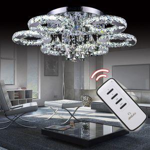 Wolketon Kristall Deckenlampen LED Deckenleuchte Lampen Wohnzimmerlampe 88W Kronleuchter