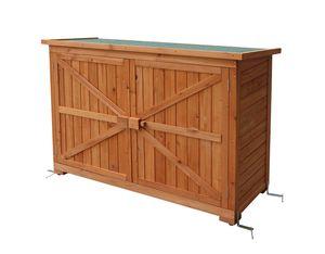 MCombo Gartenschrank Gerätescharank Gerätehaus Geräteschuppen Gartenhaus Holz 1280