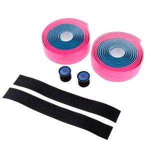 1 Paar Druckmuster Rennrad Lenkerbandwickel Mit 2 Steckern 5 Farben Farbe Blau und Pink