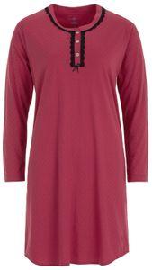 Zeitlos Nachthemd Damen langarm, Größe:L, Farbe:Bordeaux