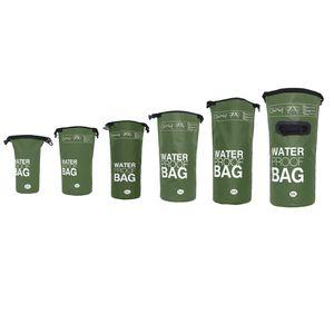 DonDon wasserdichter Outdoor Dry Bag Trockentasche mit Riemen - oliv 20 Liter