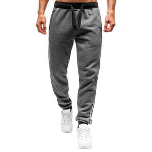 Männer Spleißen bedruckte Overalls Casual Pocket Sport Work Casual Hosenhose Größe:M,Farbe:Grau