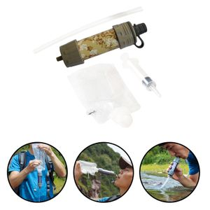 Tragbare Outdoor Survival Wasser Filter Persönliche Schwerkraft Purifier Filtration, für Outdoor Camping Wandern Farbe Dunkelgrün