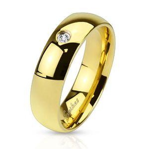 Herren Damen Ring Edelstahl Zirkonia Kristall Partnerring Ehering gold 57 - Ø 18,14 mm 4 mm