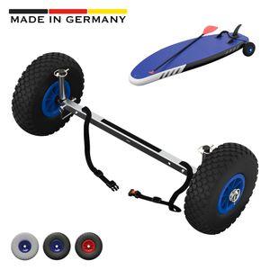 SUP-Räder, Stand Up Paddle Board Wheels, Transport-Wagen, SUPROD UP260, Edelstahl, schwarz/blau