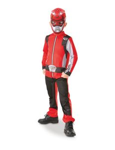 Power Rangers-Kostüm für Kinder rot Power Rangers Beast Morpher