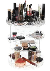 Acryl Kosmetik Aufbewahrung Organizer 360°Drehbar Kosmetikbox für Dresser Schlafzimmer Badezimmer 9638