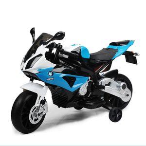Kinder Motorrad mit Stützrädern BMW | Elektrisches Motorrad für Kinder 12V | Kindermotorrad bis 30kg belastbar