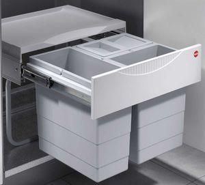 Hailo Mülleimer Küche, Einbau ab 50 cm Schrank, 3-fach Abfalleimer