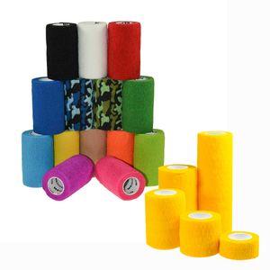 12 Haftbandagen  Größe+Farbe wählbar - selbsthaftende Bandage Fixierverband selbstklebend, Farbe:black velvet, Größe:5cm