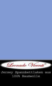 Wasserbett Spannbettlaken Boxspringbett 100% Baumwolle Jersey 180x200 - 200x220 cm hellblau