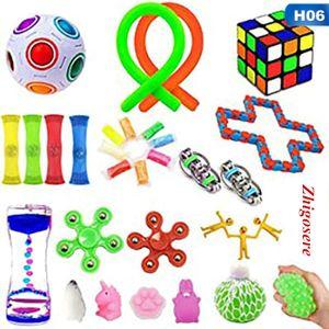 30 Stück / Set rubik's cube für Stress-und Druckabbau geeignete Lernspielzeug Spielzeug Set Fidget Sensory Toys Zappelspielzeug