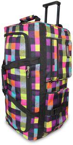 Reisetasche mit 3 Rollen 80 Liter - Neon Square - 80 Liter