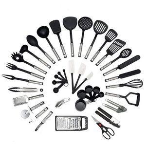 40tlg Küchenutensilien Set Kochgeschirr Kochbesteck Utensilenset Pfannenwender