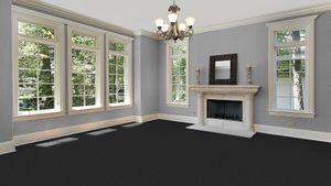 Teppichboden, Auslegware, Meterware, 400 cm x 650 cm, anthrazit,, Blauer Engel, Kurzflor