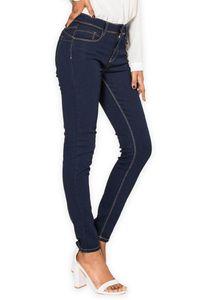 Damen Jeans Skinny Fit Push Up Stretch Casual Chic Classy Look, Farben:Blau, Größe:36