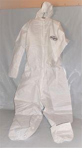 KIMBERLY CLARK KLEENGUARD A20 Schutzanzug weiß Einweg-Anzug Overall Kapuze, Größe:L, Farbe:Grau
