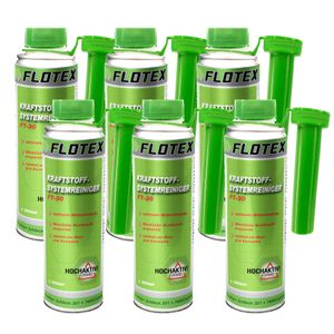 Flotex Kraftstoffsystemreiniger, 6 x 250ml Additiv Reiniger Kraftstoff-System