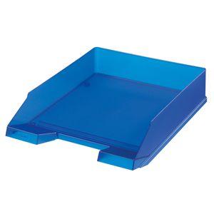 Herlitz Ablagekorb / Briefkorb / Briefablage / Farbe: transluzent royalblau