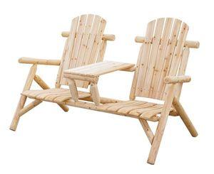 Gartenbank / 2-Sitzer Bank mit Tisch Bellavista Timber Nadelholz natur