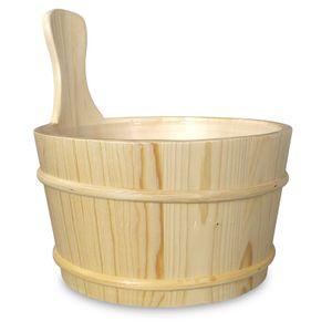 Sauna-Kübel Espe natur - 4 l mit Einsatz