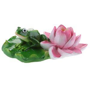 Süße Frosch Teichdekoration Schwimmform, ideal für Teich Aquarium Fishpod F Mehrfarbig