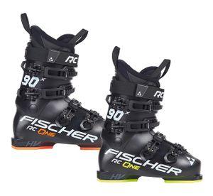 Skischuhe Fischer RC One X90 Flex 90 mit Thermoshape Skistiefel, Größe:28/28.5, Farbe:schwarz/gelb