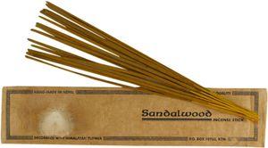 Handmade Räucherstäbchen - Sandelholz, Braun, Räucherstäbchen aus Tibet, Nepal