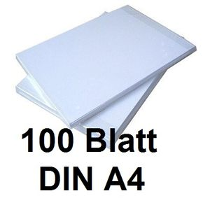 100 Blatt Din A4 Sublimationspapier / Thermo-Transferpapier Für Sublimationsdruck
