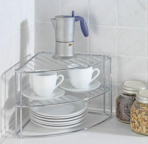 Küchenregal Geschirr-Eck-Regal Geschirrablage