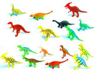 12 Stück Dinosaurier Kunststoff ca. 6-7 cm Dinos Spielfiguren Sammelfiguren
