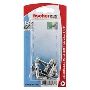 FISCHER 15158 GKM SK Gipskartondübel Metall 31 mm mit Spanplattenschraube 4,5 x 35, ****