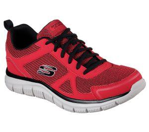 Skechers Flex Advantage Herren Sneaker Rot Schuhe, Größe:46