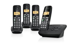 Gigaset AL225A Einfach praktisch -mit Anrufbeantworter - Beleuchtetes Grafik-Display, 34 x 17 mm (B x H)