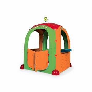 Kinderhäuschen aus Kunststoff - Paula - Kinderhütte für Kleinkinder mit Aufklebern