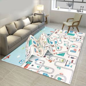 NEUFU Baby Spielmatte faltbar, Babymatte doppelseitig, Krabbelmatte aus XPE Material, Krabbeldecke, Spielteppich 1.8 x 2m