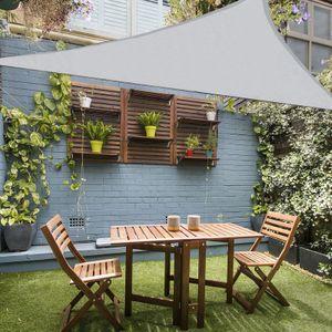 Outdoor Sonnensegel Wasserdicht Sonnenshutz für Garten Patio Balkon Oxford Gewebe Sonnensegel Dreieck 3x3x3m (Grau,3x3x3m)