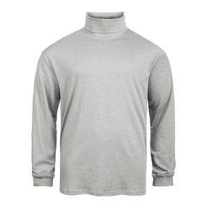 Kitaro XXL grau meliertes Rollkragen Langarmshirt, Größe:10XL