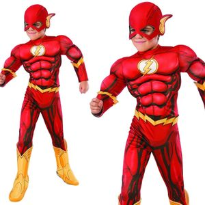 Rubies - Jungen Kostüm The Flash - Deluxe-Version - Flash - S