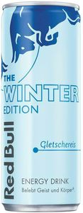 Red Bull Energy Drink Gletschereis Winter Edition 250 ml Dose OHNE PFAND Sammlerstück AT Version