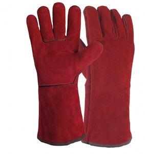 1-50 Paar - Powertouch rot Lederhandschuhe Schweißerhandschuhe gefüttert - 51SIREP15, Menge:10 Paar